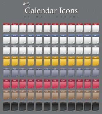 Calendar Icons by Matt Varone