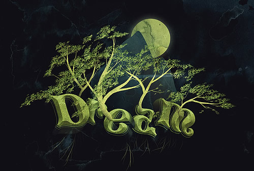 Dream Design with 3D Typography