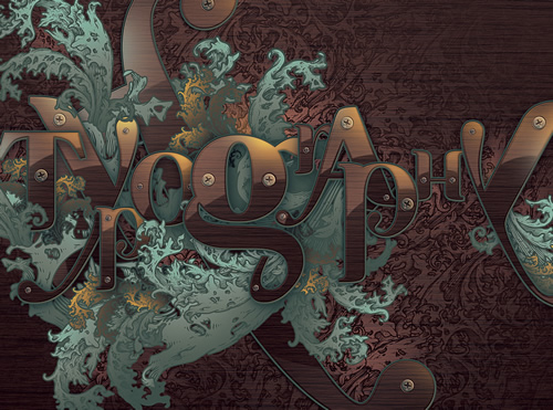Richly Ornate Typographic Illustration