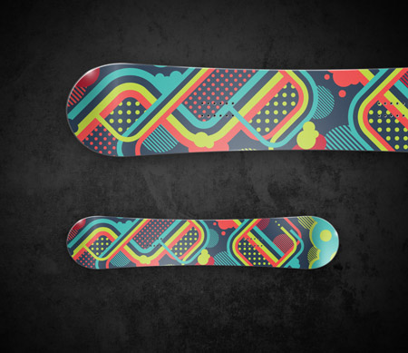 Adobe Illustrator tutorial to create a cool snowboard illustration.