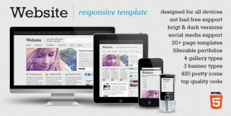 Website – responsive template