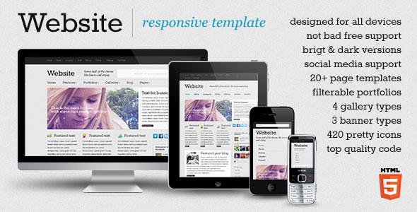Website – responsive template