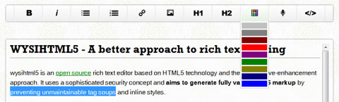 wysihtml5 - A better approach to rich text editing