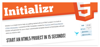 Initializr - Start an HTML5 project in 15 seconds!