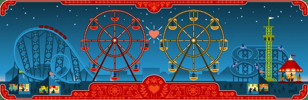 Feliz día de San Valentín y 154º aniversario del nacimiento de George Ferris