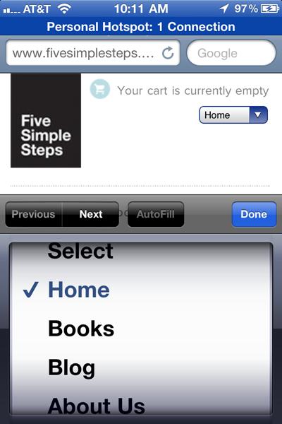 The Five Simple Steps website has a responsive design