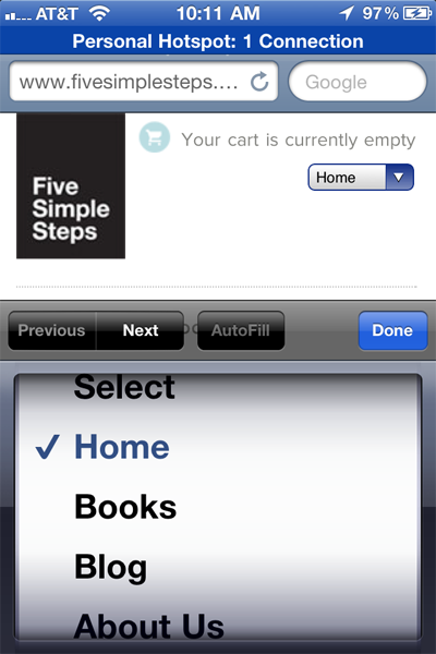 The Five Simple Steps website has a responsive design