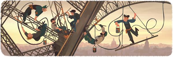 126º aniversario de la inauguración de la Torre Eiffel